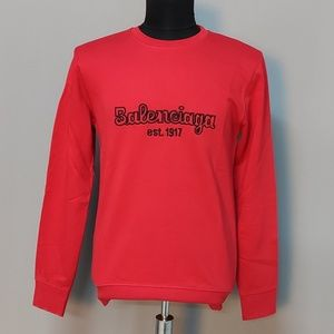 Balenciaga Men Front Written Men Sweatshirt